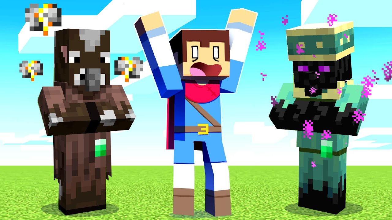 Minecraft But MOBS Are VILLAGERS