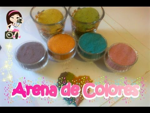 Arena de colores youtube for Arena de colores