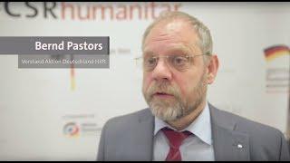 #CSRhumanitär | Bernd Pastors beim Dialogforum in Frankfurt