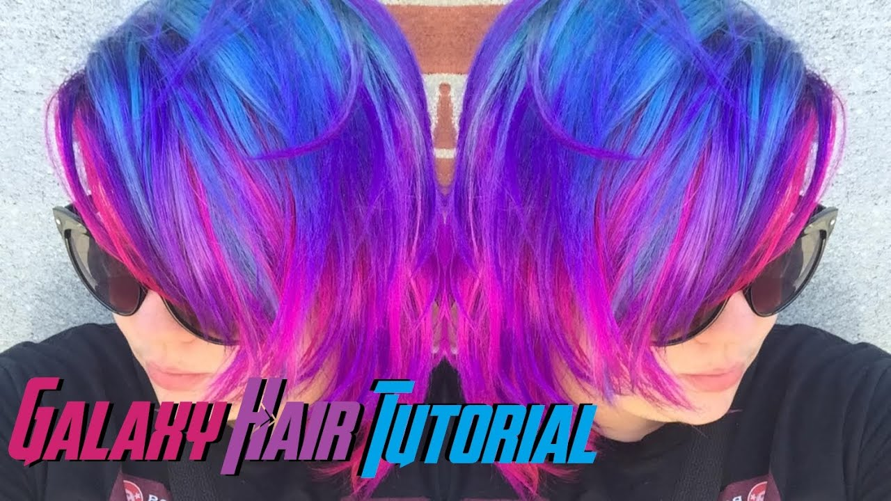 How To Do Cosmic Galaxy Hair Youtube