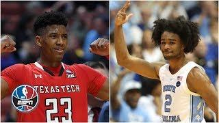Coby White and Jarrett Culver highlight picks 6-9 in ESPN's mock draft | NBA Mock Draft Special 2019