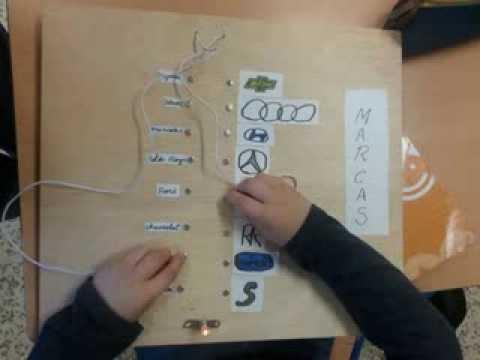 Juegos con circuitos eléctricos. Alumnado de 6º del colegio Valle Inclán.