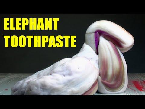 Elephant Toothpaste. Potassium permanganate + Hydrogen peroxide = Foamy Chemical Reaction