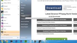 FFMPEG: Installing FFMPEG On Windows