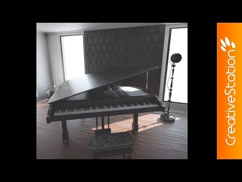 Piano - 3D Speed art (#Maya) | CreativeStation