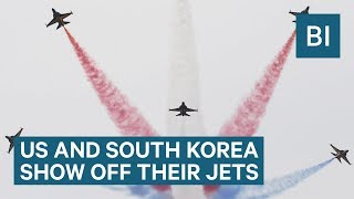 Watch the US' and South Korea's jets perform stunning aerobatics