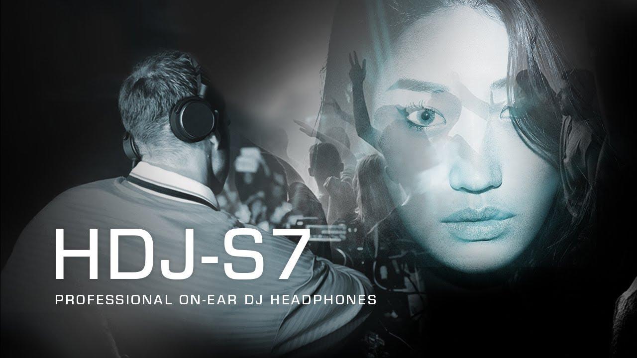 Pioneer DJ HDJ-S7 professional on-ear DJ Headphones - Deeper Connection