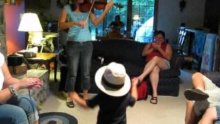 Little Cowboy Dances to Fiddle Tune