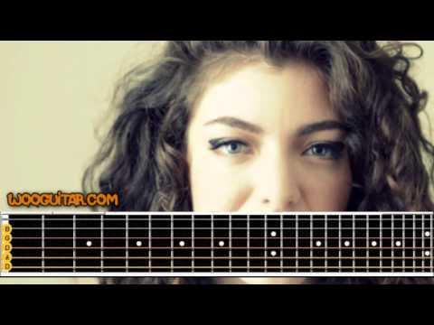 Lorde Royals Acoustic Lesson
