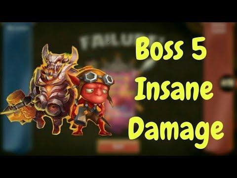 Boss 5 Is So Crazy Nowadays L Castle Clash