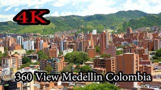 4K - Super View of Medellín Colombia 2017