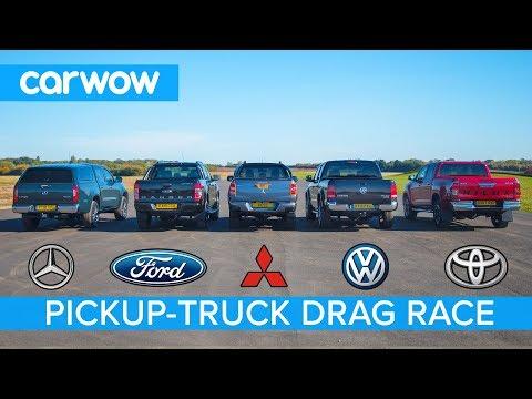 Mercedes X-Class vs VW Amarok vs Hilux vs Ranger vs L200  - DRAG RACE, ROLLING RACE & BRAKE TEST