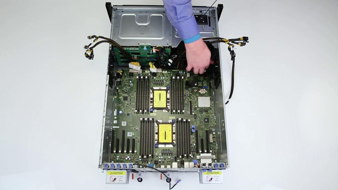 Dell EMC PowerEdge T640: Remove/Install GPU PIB