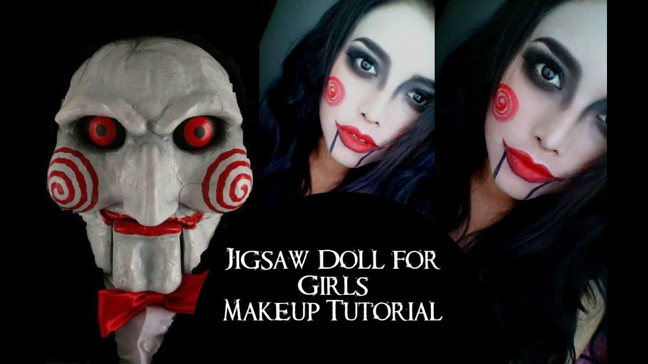 Maquillate fácil para halloween *Jigsaw doll*/ Halloween ...