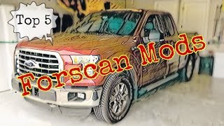 Top 5 Forscan mods Ford 150
