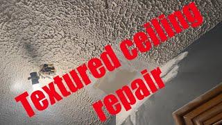 DIY Texture ceiling repair under $20