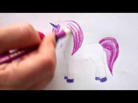 Einhorn Zeichnen Lernen Malen Für Kinder How To Draw Unicorn