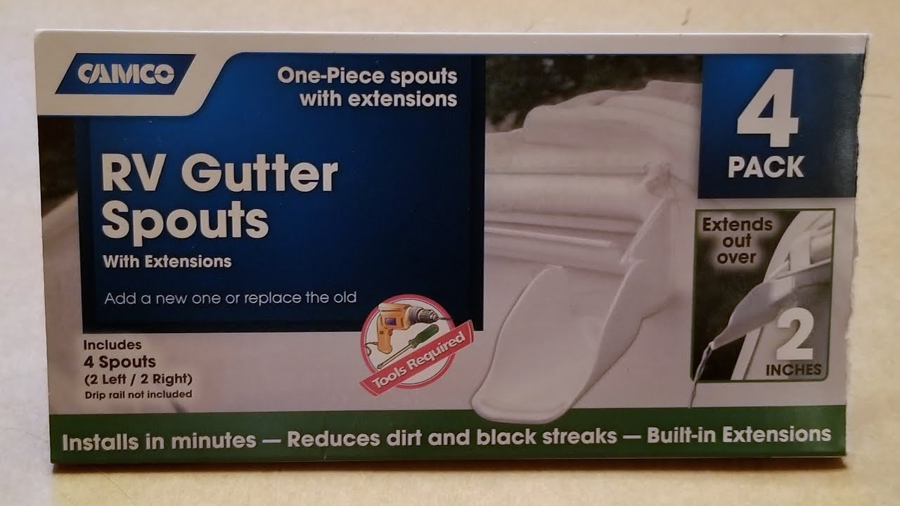 Camco RV Gutter Spout Extensions - Installation and Review