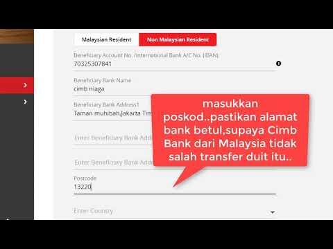 cara pantas kirim duit ke indonesia guna Foreign Telegraphic Transfer 2020