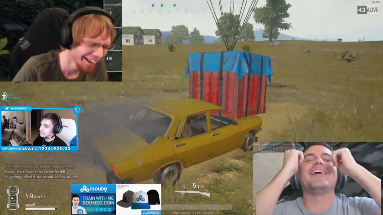 Easiest Way To Obtain An Airdrop: Shroud Steals Airdrop With Car