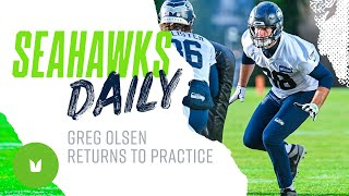 Seahawks.com reporter jackie montgomery reports on seahawks tight end greg olsen returning to practice this week after recovering from a non-contact foot inj...