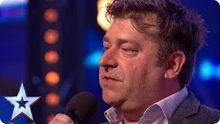 Download Nick Page wins over audience with HILARIOUS act! | Auditions | BGT 2018 Mp3 and Videos