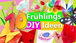 10 Frühlingsdeko DIY Ideen | Basteln für Ostern | Blumen selber machen | Schmetterling falten | Kids