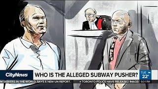 Who is the alleged subway pusher?