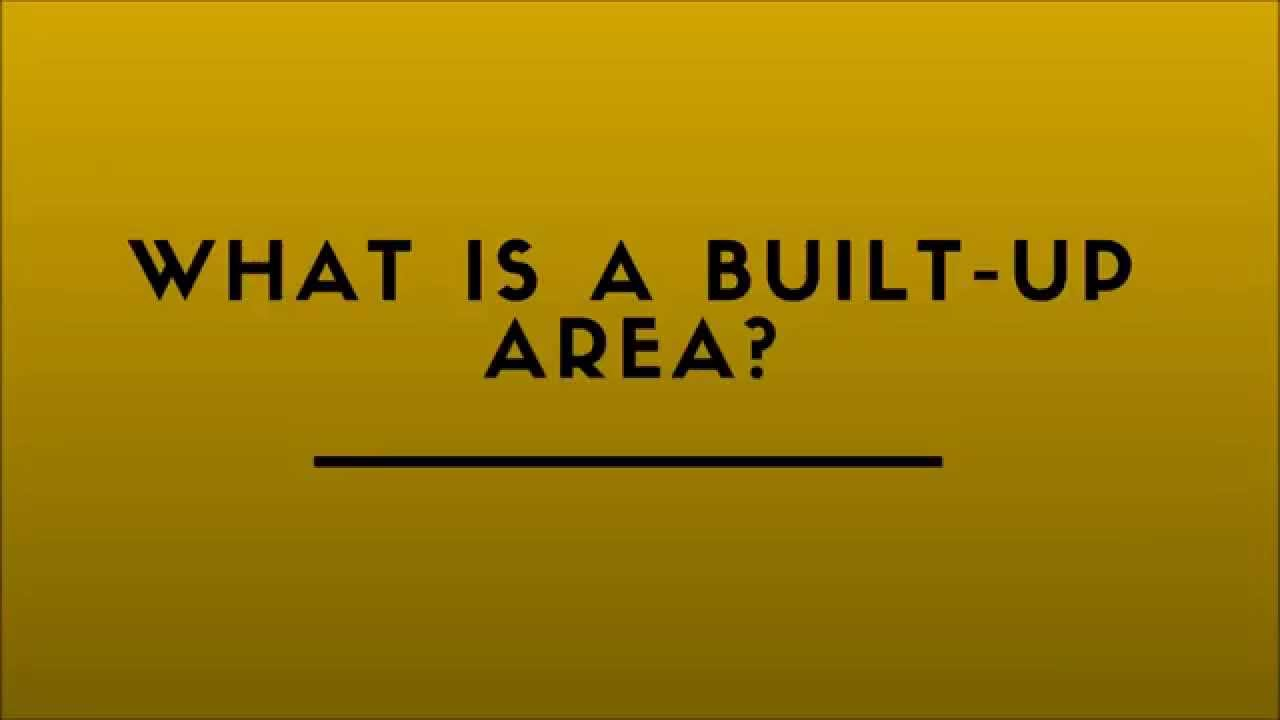 what is a built up area youtube