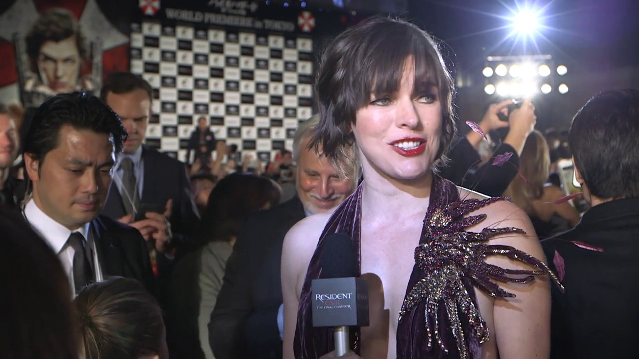 Resident Evil The Final Chapter Interview: MILLA JOVOVICH Interview Tokyo Premiere Resident Evil The