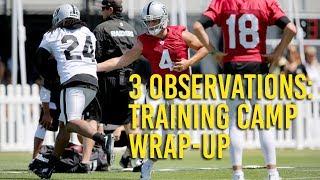 Raiders camp: Training camp wrap-up