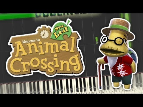 Animal Crossing New Leaf - 1 AM Theme Piano Tutorial Synthesia