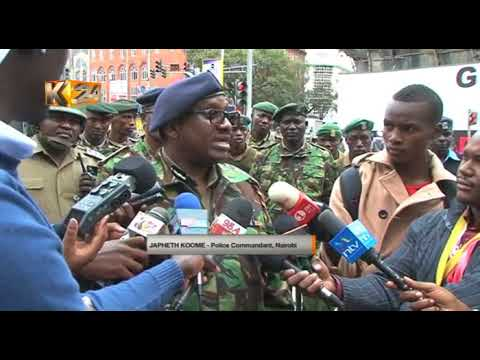 Nairobi Police Commander Koome warns people causing fear on social media