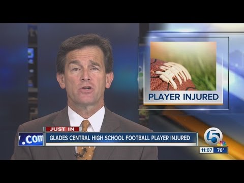 Glades Central High School football player injured