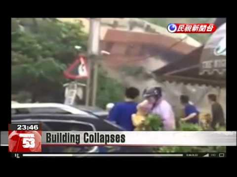 Two-story building in Keelung ruined due to heavy rains