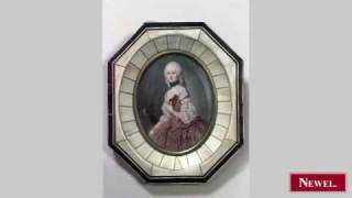 Antique Continental portrait miniature of a lady within