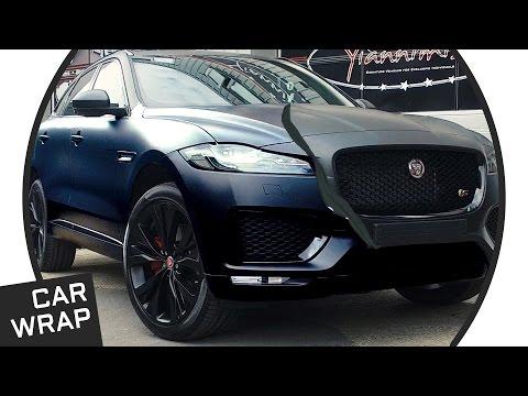 Jaguar F-Pace wrapped STEALTH Satin Black
