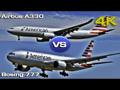 Boeing 777  VS Airbus A330 American Airlines [4K]