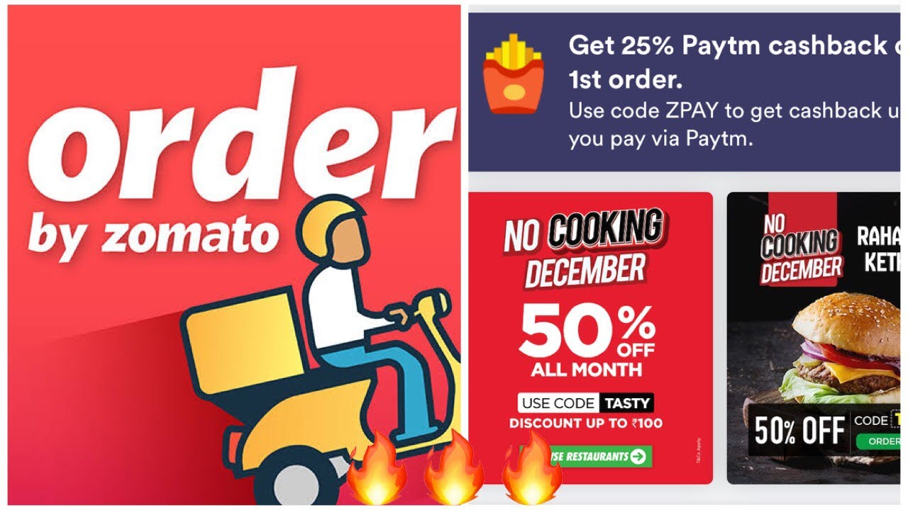 How to Order food Online from Zomato with Offer more than 50%,70%Order  food online with Discount🔥