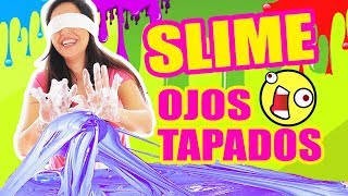 SLIME A CIEGAS! HACIENDO RETO EXTREMO Blindfold Challenge I SandraCiresArt thumbnail