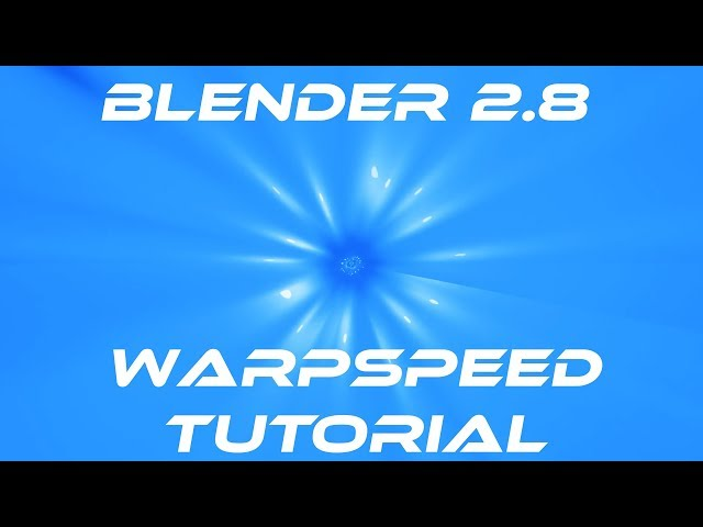 Blender 2.8 Beta EEVEE Tutorial Deutsch | Warpspeed Timetunnel erstellen