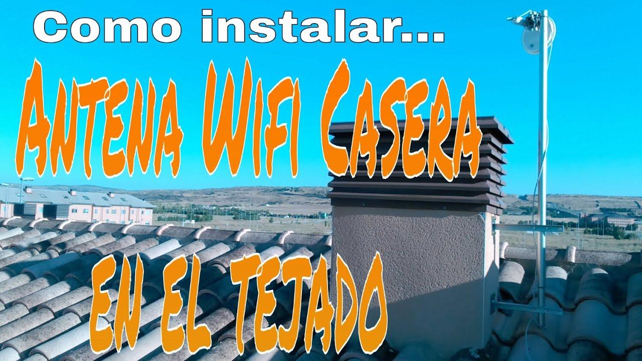 cmo instalar una antena wifi tv radio parablica en el tejado