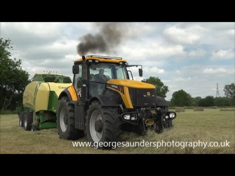JCB and Krone high speed baling