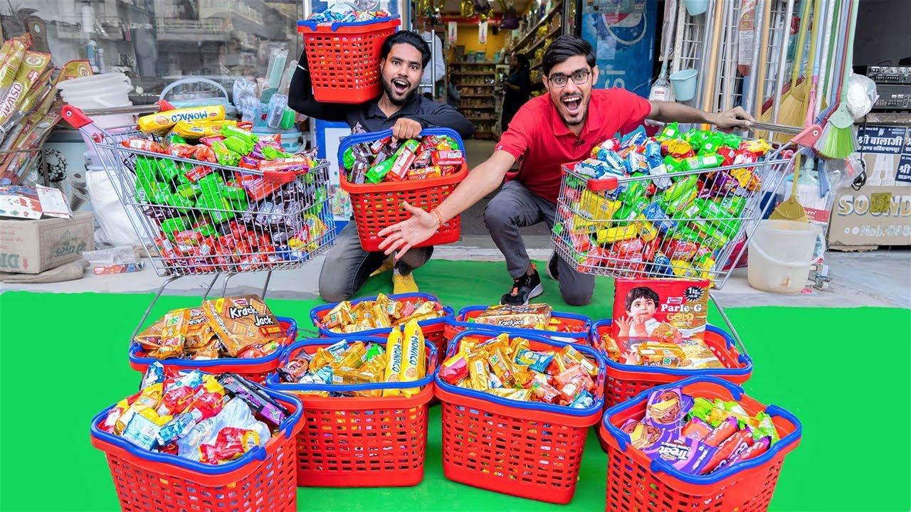 Buying All Biscuits From a Super Market | सुपर बाजार के सारे बिस्किट खरीद लिए 😂