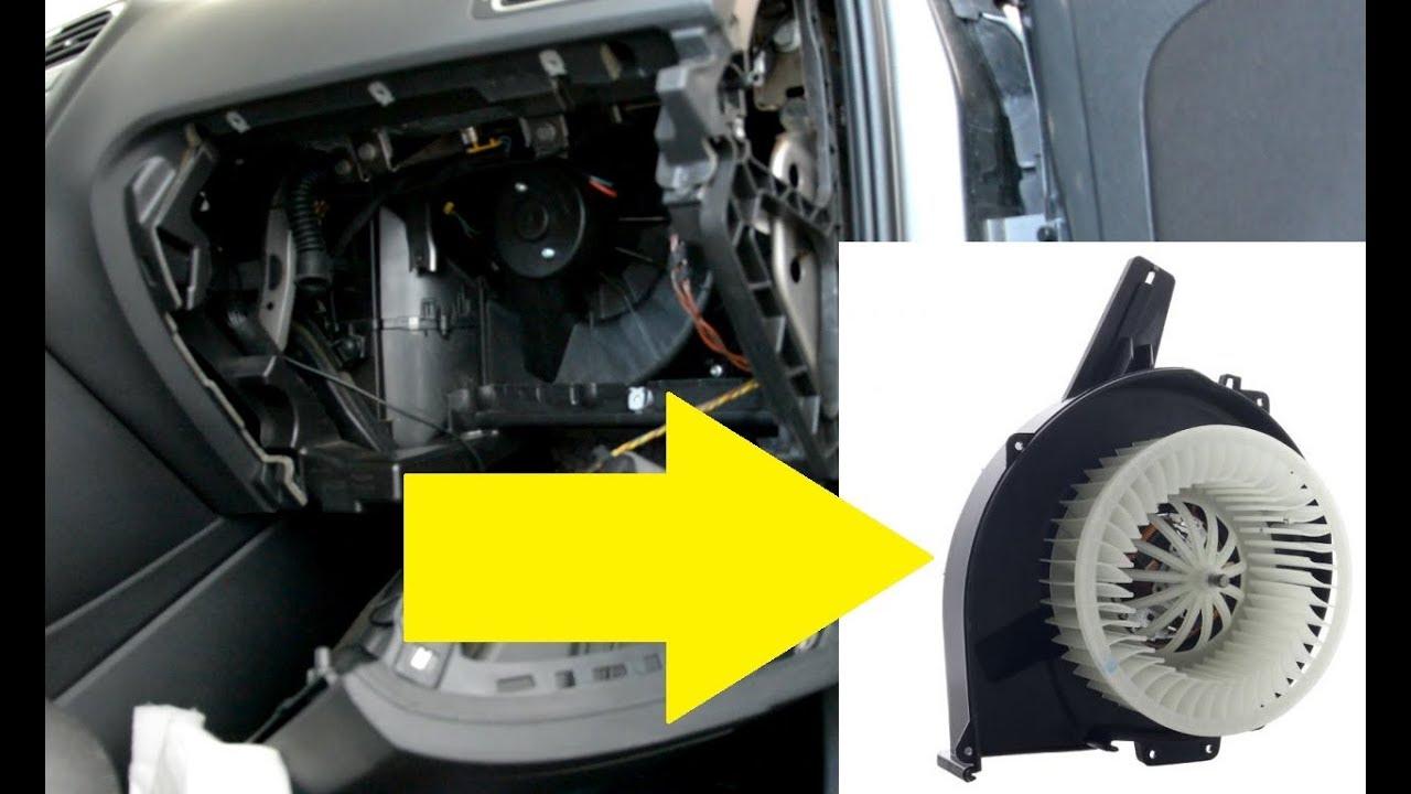 Blower motor Fan Removal VW polo - YouTube