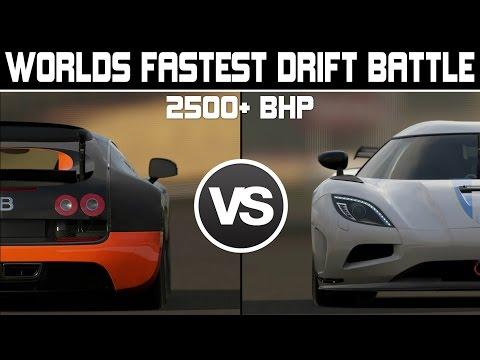 Forza 6 - WORLDS FASTEST DRIFT BATTLE 2500+BHP - Bugatti SS vs Koenigsegg Agera
