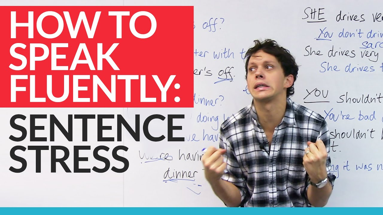 Speak like a native speaker by using sentence stress in english with examples youtube