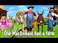 Old MacDonald Had A Farm - 3D Animation Animals Songs & Nursery Rhymes for Children