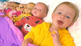 Десять малышей в кровати - Детская песня | Песни для детей от Кати и Димы