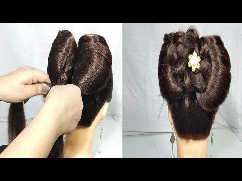 Simple Party hairstyle for girls || Last Minute Hairstyles || hair style girl || hairstyles | 2019 thumbnail